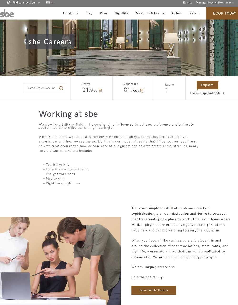 sbe career page