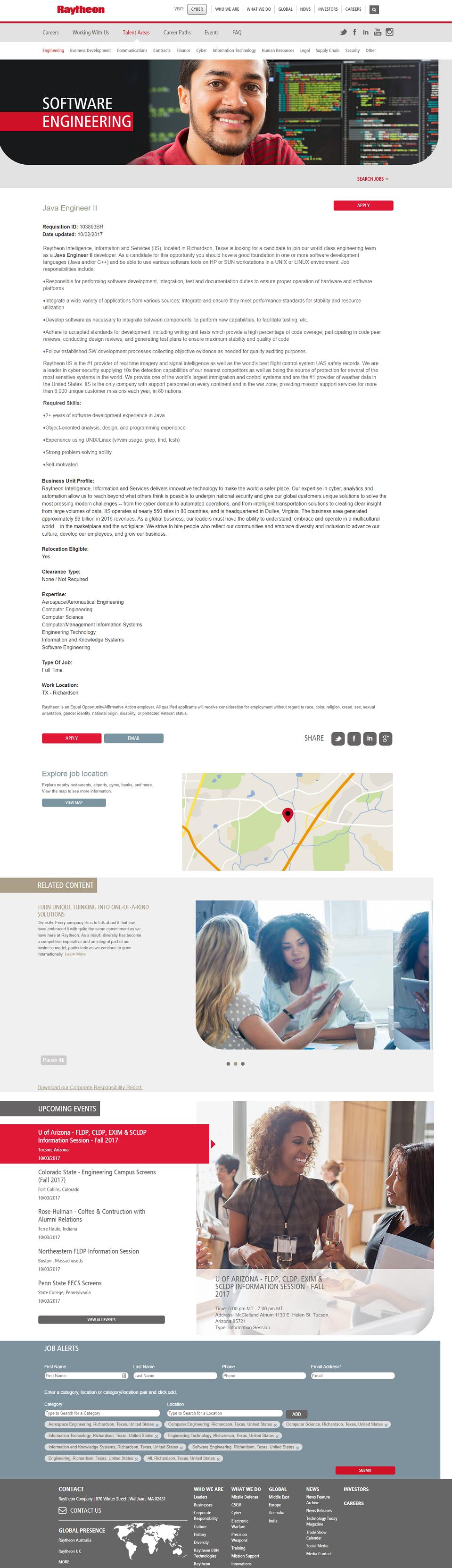 Raytheon Brassring ATS Job Page