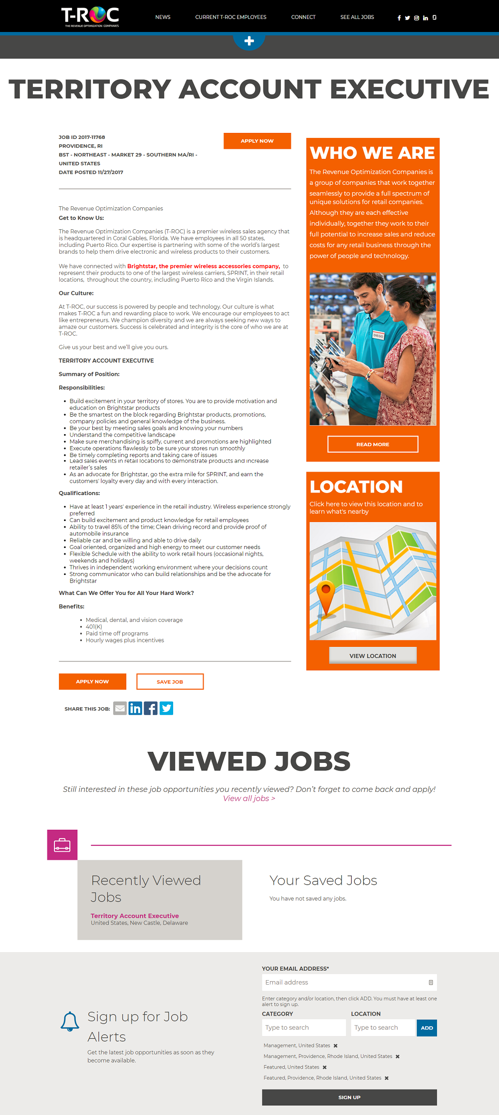 TROC iCims ATS Job Description Page