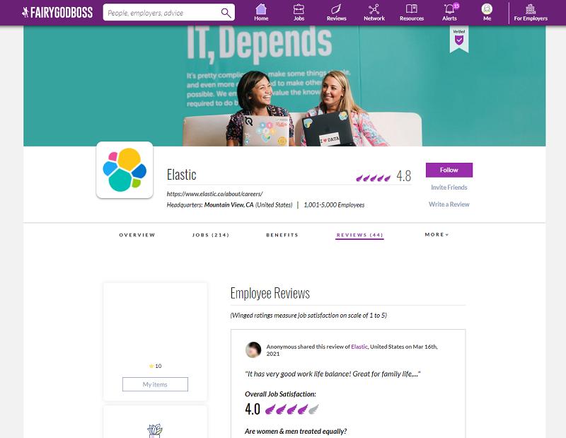 fairygodboss employer review site