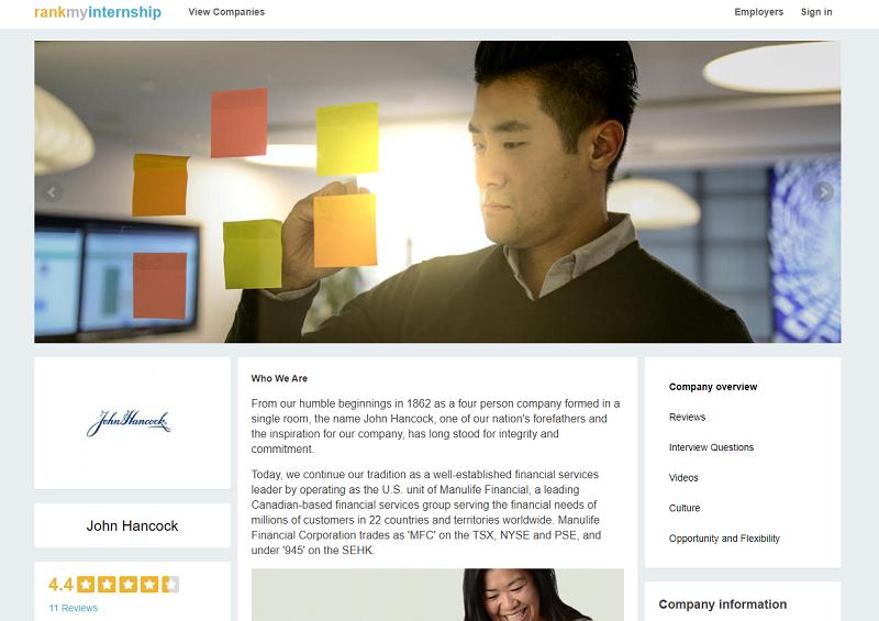 rankmyinternship company review site