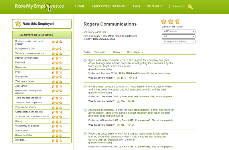 ratemyemployer company review site