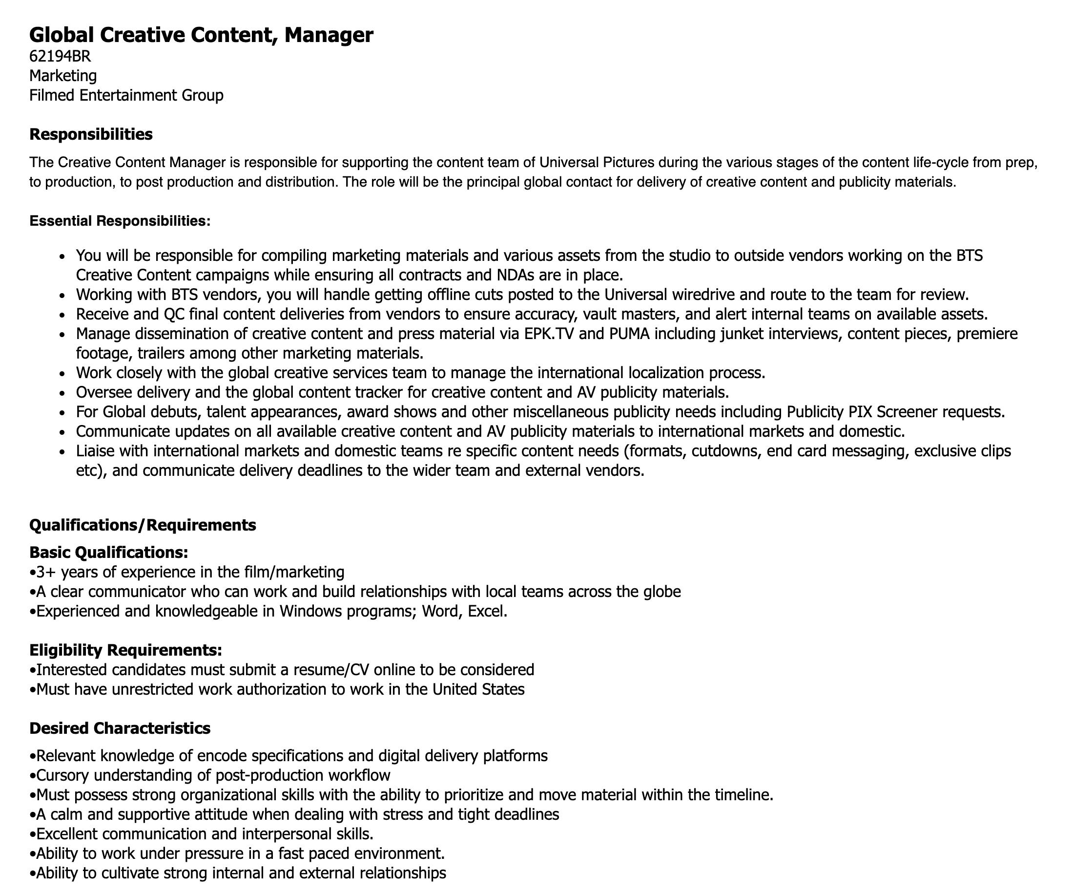 content manager job description
