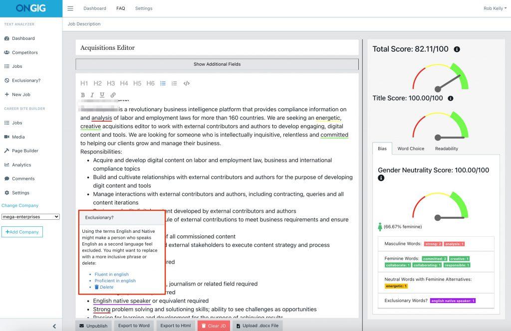 job description software scan for bias