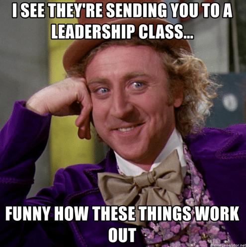 meme about leadership class
